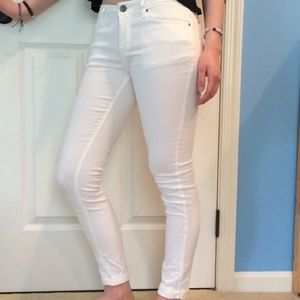 White Jeggings Sz L